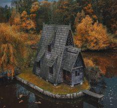 Куди поїхати восени біля Львова: казковий будиночок на озері і зубри в лісі